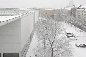 Blick von ganz oben Richtung Pinakothek und Sammlung Brandhorst