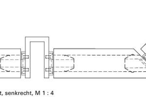 """<div class=""""10.6 Bildunterschrift"""">Fassadenschnitt; senkrecht M 1:4</div>"""