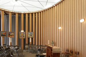 Gilt als Ikone der Papierarchitektur: die temporäre Kirche in Kobe (1995–2005) von Shigeru Ban