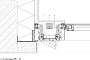 Detail Lüftungsklappe, M 1:10<br />