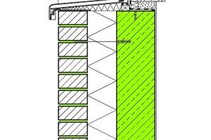 Abb. 2: Außenwand aus Betonfertigteilen mit Kerndämmung und Vorsatzschale