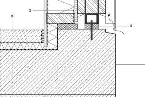 Detail Fußpunkt Fassade, M 1:10<br />