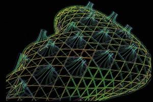 Kunsthaus Graz: 3D-Modell der Fassade<br />