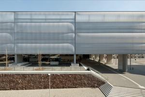 Der neue Hauptbahnhof in Chemnitz mit seiner neuen Fassade
