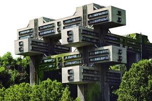 Das Ministerium für Autobahnbau, Georgien, Tiflis 1974<br />