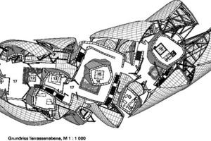 Grundriss Terrassenebene, M 1:1000