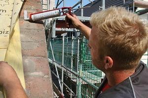 An allen Außenbauteilen wird die neue Dampfsperre luftdichtend angeschlossen