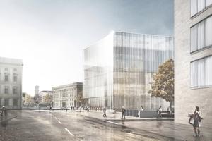 2. Preis: Grüntuch Ernst, Berlin, rechts das ehemalige Staatsratsgebäude, links die Bauakademie (!)