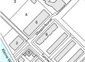 Lageplan, M 1:4000