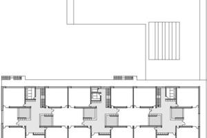 Obergeschoss mit Lernclustern, M 1:1000