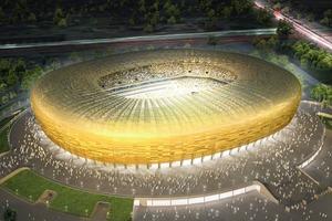 Noch nicht das Ende: Baltic-Arena Gdansk, für die WM 2012 in Polen<br />