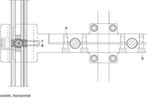 Detail Seilklemme Eckhalter Ansicht horizontal<br />