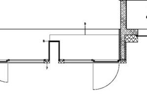 Horizontalschnitt Anschluss an Bestand, M 1:50