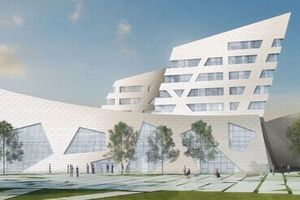 Ansicht des neuen Zentralgebäudes der Leuphana Universität Lüneburg, Entwurf Daniel Libeskind
