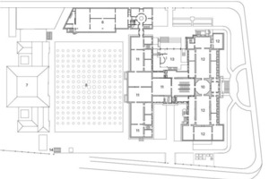 Grundriss Obergeschoss, M 1:1250<br />