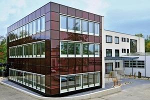 Fassade am ift Rosenheim als BIPV in Dünnschicht-Technologie