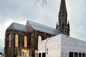 Die profanierte Kirche bildet Entrée und Foyer