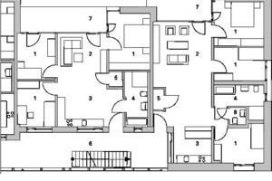 Teilgrundriss 1, Erdgeschoss, M 1 :200