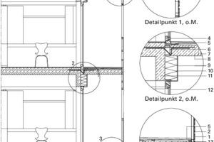 Detail Balkon, M 1:75