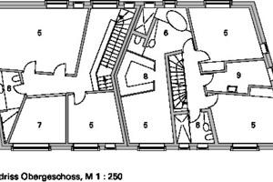 Grundriss Obergeschoss, M 1:250