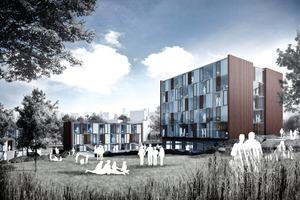 Fuhlrottstraße, Wuppertal: Hier sollen fünf Gebäude für Studierende der Bergischen Universität Wuppertal entstehen