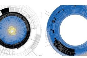Mit der rechnergestützten Berechnung von Tageslichtquotienten und Leuchtdichte lassen sich Tageslichtbetriebszeiten und der Energiebedarf für künstliche Beleuchtung ermitteln (Tageslichtuntersuchung Plenarsaal des Landtages NRW, Düsseldorf)<br />