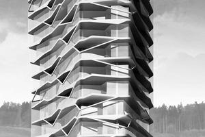 Visualisierung Wohnturm Bächtelen, in Planung<br />
