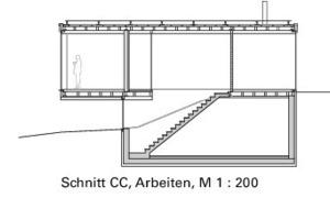 Schnitt CC, Arbeiten, M 1:200<br />