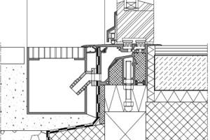 Detail: Schwellenfreier Hauseingang und Terrassenaustritt<br />