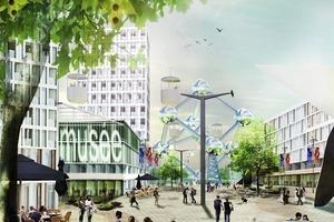"""<div class=""""13.6 Bildunterschrift"""">Neo Brussel/BE, Umplanung d. Heysel Plateaus in einen multifunktionalen Stadtteil, 2010 bis heute</div>"""