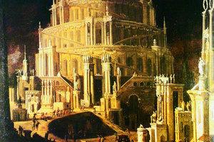 Monsu Desiderio Turm zu Babel, 1630, Öl auf Leinwand, 152 x 130 cm