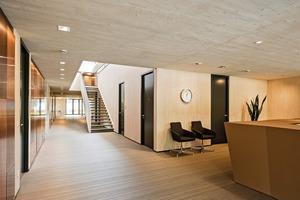 Sämtliche Innen- und Außenwände des in Schottenbauweise erstellten Büros sind tragend