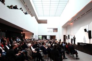Ort der Verleihungszeremonie: das Foyer des Landesmuseums Münster (Architekt: Volker Staab)