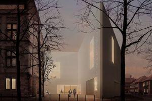Neueres Projekt für die nächste Zukunft: Ansicht vom Neubau des LWL-Landesmuseums für Kunst und Kulturgeschichte, Münster