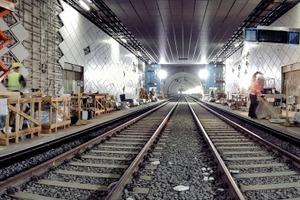Bauarbeiten an der U-Bahn Station Benrather Straße<br /><br />