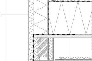 Detail 2, Attika mit Fenster, M 1:12,5<br />