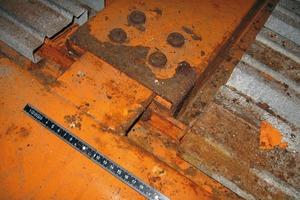 Bild6: Korrosion an der Oberseite eines Mittelträgers – Überblick