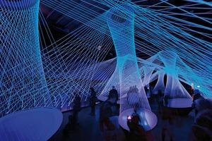 Luminale 2012 - Resonate, eine Licht-Klang-Installation auf einem Containerschiff am Holbeinsteg
