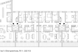 Grundriss 1. Obergeschoss, M 1:333 1/3