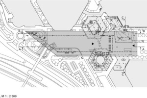 Vordach Lageplan, M 1:2500<br />