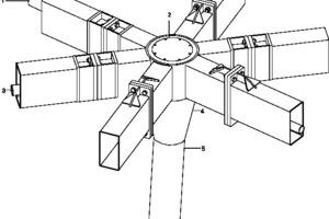 Isometrie Kopfplattenstoß, o.M.