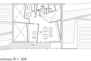 Obergeschoss, M 1:500