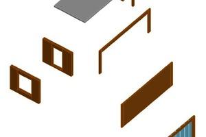 Abb. 8:Raummodul mit optionalen Wandelementen