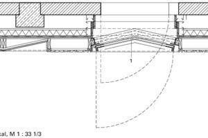 Detailschnitt 1, vertikal, M 1:33 <sup>1</sup>/3