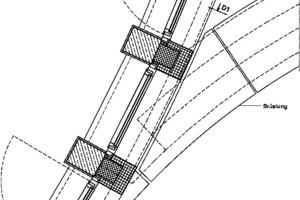 Detailgrundriss Brüstung, M 1:25
