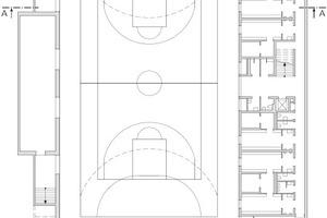 Grundriss Untergeschoss, M 1:500
