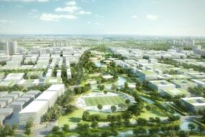 Tagansicht der Kunststadt für Industrie und Entwicklung, Wohnen, Kultur und Sport