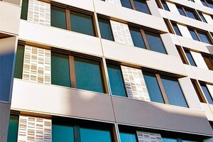 Integrale Planung – beispielhaft umgesetzt: die Ansaugöffnungen sind auch im Außenraum als prägendes Element der Fassade gestaltet