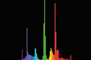 Der Vergleich des Spektrums von Tageslicht (links) mit dem einer Leuchtstofflampe (neutralweiß) macht deutlich, dass dem Kunstlicht einige Frequenzbereiche gänzlich fehlen