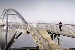 Dreiländerbrücke über den Rhein, Weil am Rhein (D), Huningue (F)